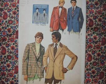 vintage 1970s Simplicity sewing pattern 5217 Mens suit jacket size 36 UNCUT