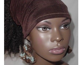 Hairband-Tube-Chocolate Brown-Natural Hair- Head Wrap - Headwrap - Locs-Virtuous Creations