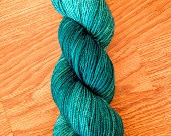Aqua Teal superwash merino wool nylon 75/25 blend 100 gram 245 yards DK weight