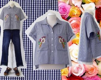 Cotton 100% Vichy shirt Luci Lü