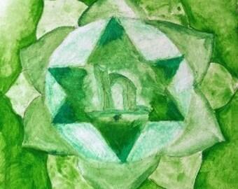Green Chakra Print