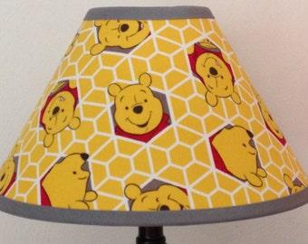 Winnie The Pooh Fabric Nursery Lamp Shade/Baby Gift