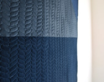 Cotton Velvet Quilted Blanket Inspired by Traditional Moving Blankets