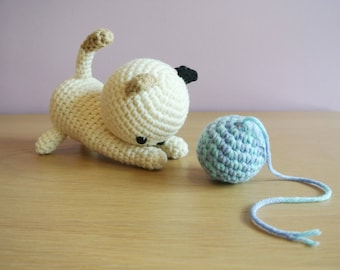 Crochet Cat Amigurumi - Handmade Crochet Amigurumi Cat Toy Doll - Cat Crochet - Amigurumi - Kitty - Kitten