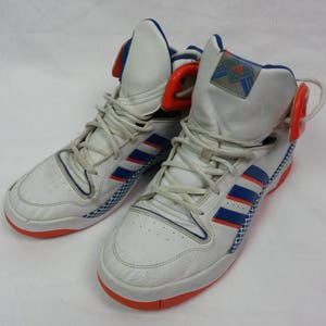 Old School White And Orange Aidas Sneakers