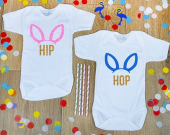 Twin Easter Outfits, Easter Kids Gifts, Twin Bodysuits Set, Hip Hop, Baby Easter Gift, Cute Baby Clothes, Twin Baby Clothes,Twin Baby Shower