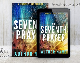 "Premade Digital eBook Book Cover Design ""The Seventh Prayer"" Thriller Suspense Mystery New Adult Fiction"