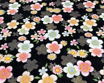 Fat Quarter Oriental Blossoms and Flowers 100% Cotton Quilting Fabric Sevenberry