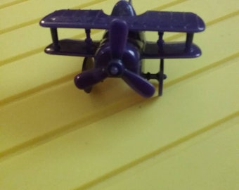 1986 McDonald's Airport Happy Meal Toy Grimace Plane