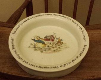 Vintage Bowl - Wedgewood Beatrix Potter - Peter Rabbit Depiction & Vintage peter rabbit   Etsy