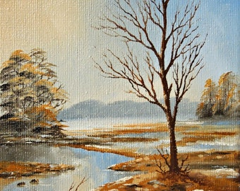 "Original Oil Painting for Sale: ""Spring Tree"" , landscape"