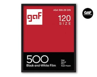 GAF 500 Vintage Photo Photo Film Screenprint