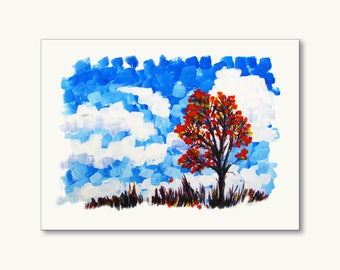 Windy Sky - wall art on stretched canvas frame
