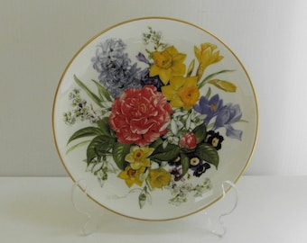Fruhlingsmorgen Spring Morning Collectible Plate 1987 Hutschenreuther Flowers Floral