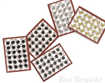 Sets of High Quality Sew-on Snaps, 6mm, 5 Colors Available
