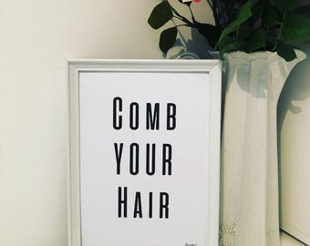 Bathroom - Comb your hair , Brush your teeth, wash your hands prints