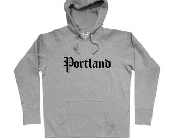 Portland Gothic Hoodie - Men S M L XL 2x 3x - Gift for Men, Her, Oregon Hoody, Portlander Hoody, City of Roses, Portland Gift, PDX Hoody