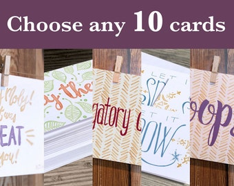 Choose any 10 cards from my shop. Buy a Card, Feed a Baby. Includes Envelopes.