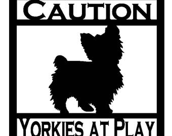 Personalized Yorkie Sign (A34)