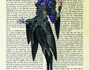 Moira, Overwatch, printed on Vintage Paper - dictionary art print, book prints