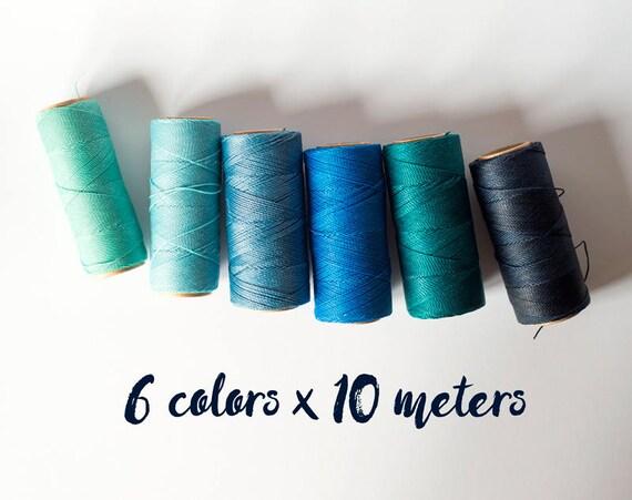 Blue set of macrame cord