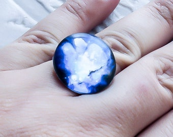 Galaxy Ring - Space Ring - Everyday Ring - Minimalist Ring - Nebula Ring - Solar System - Astronomy Jewelry - Galaxy Jewelry - Adjustable
