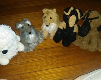 Crocheted Custom 30cm dogs