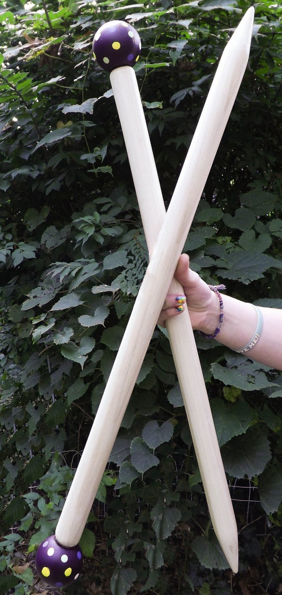 "Large 24""Knitting Needles, Huge Needles, Giant Knitting Needles,SMOOSH STIX, Made for Smoosh Yarn."