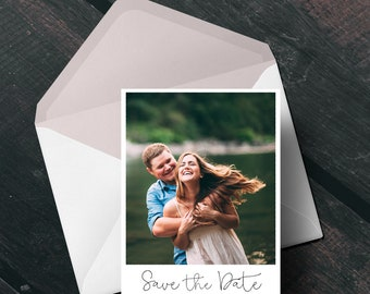 Vintage Frame Photo Date Wedding Save the Date, Engagement Announcement Card or Magnet