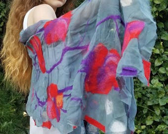 hand-made  nuno felting scarves