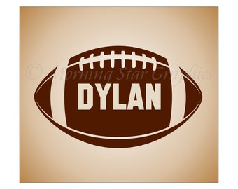 Decal Sports FOOTBALL, Personalized with NAME, Collegiate Sports Vinyl Decal Sticker, Boy's Room Decor, Home Mural Art SP-106