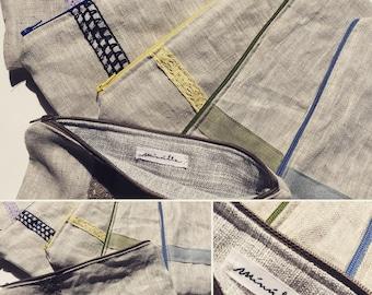 pochette /pencil case linen fabric