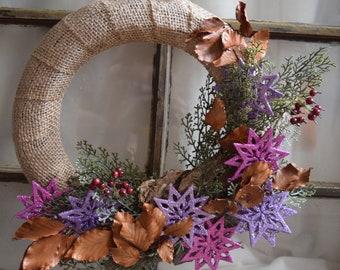 Handmade Woodland Christmas Wreath