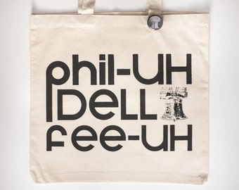 Philadelphia tote bag, liberty bell, Philly bag