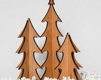 Large Set of Wooden Trees