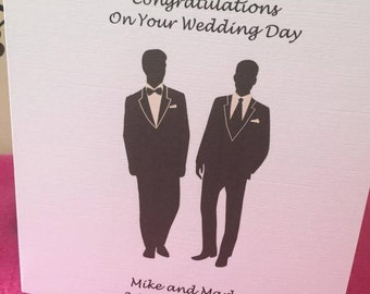Gay Wedding Card, Groom and Groom Wedding Card, Mr & Mr Wedding Card, Gay Wedding Card, Gay Wedding Partnership Card, Civil Wedding Card