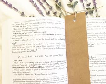 Custom floral bookmark, floral bookmark, kraft bookmark, custom bookmark, unique bookmark