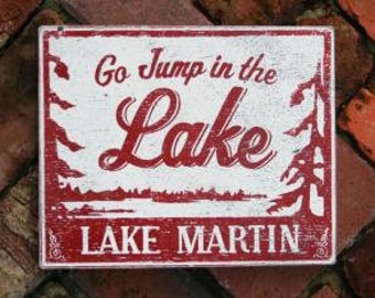 Go Jump in the Lake-Lake Martin 12x14