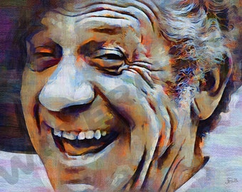 Sid James Art Print - Carry On Film Oil Painting Poster  LFF0182