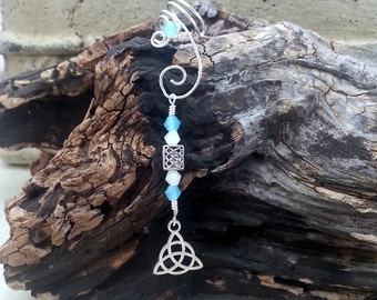 Triquetra Celtic  Ear Cuff Dangle No Piercing  Gift Womens Teen, Gifts for Her
