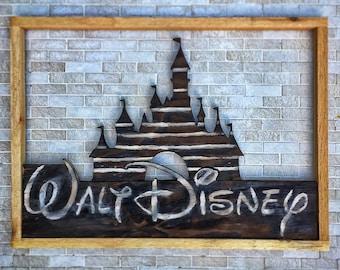 Cinderella's Castle, Disney, Framed Disney Castle, Castle, Walt Disney Castle
