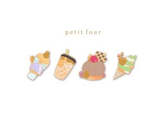 petit four (enamel pins)