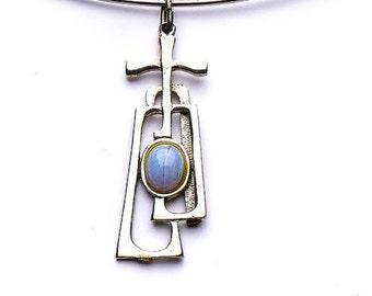 Vintage necklace, modernist, 1960's design, pendant choker, abstract necklace, choker, retro design, Mid Century modern design, jewellery