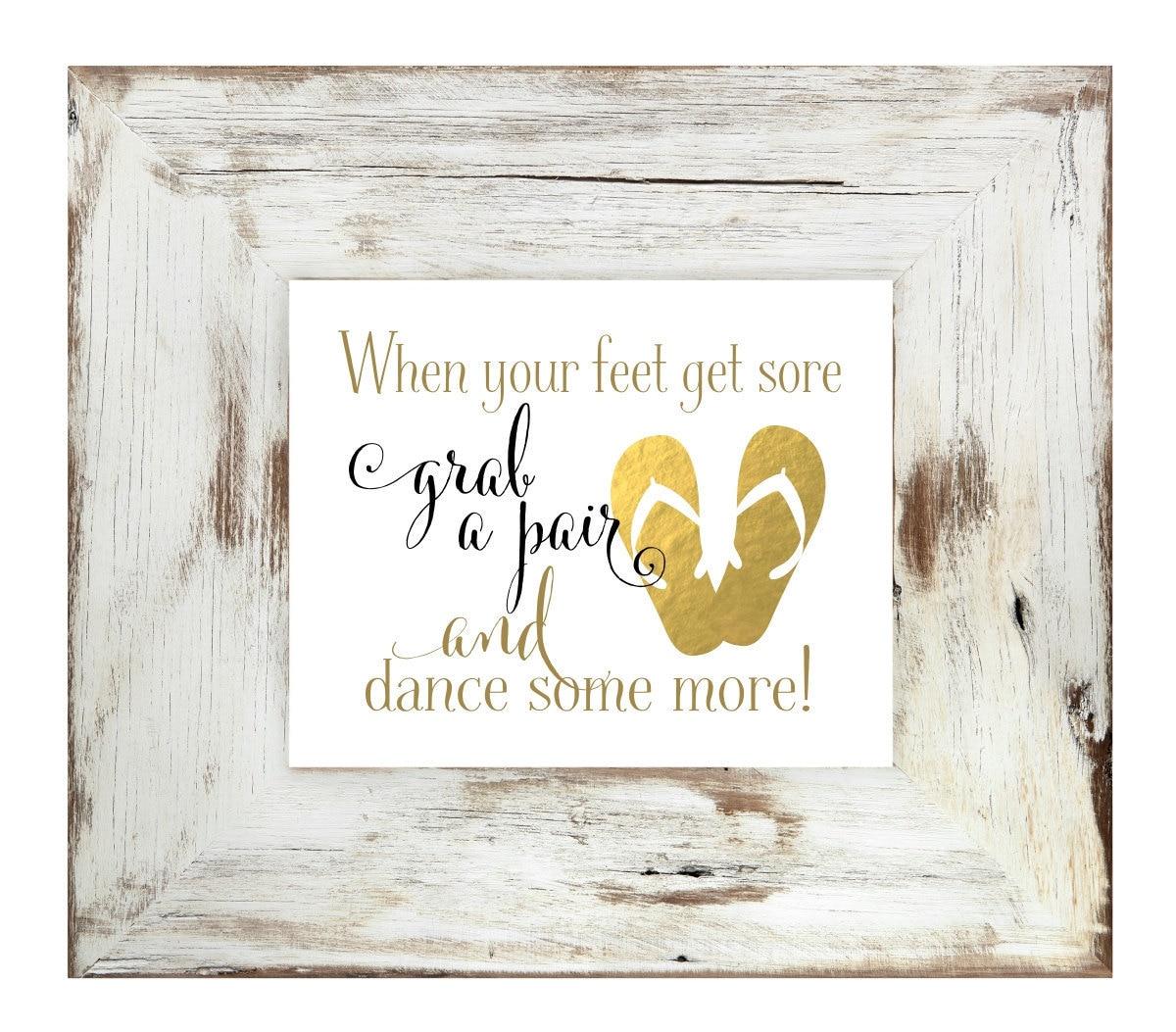 Wedding Flip Flop Sign | Wedding Signs | Wedding Guest Favor | DIY ...