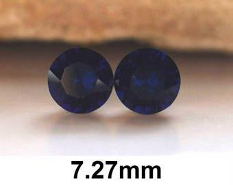 Dark Indigo Studs, 7.27mm Studs, Swarovski Xirius, Rhinestone Stud Earrings, Dark Indigo Earrings, Crystal Stud Earrings, Dark Blue Earrings