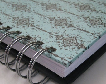 Address Book With Tabs - Address Book - Email Address Book - Address Phone Book - Unique Address Book - Replacement Labels - Aqua Damask