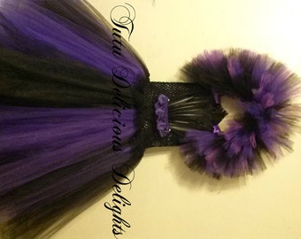 Maleficent Tutu Dress, Purple and Black tutu dress, Maleficent Costume, Maleficent Party, Kids Birthday tutus, Maleficent Dress, Photo Props