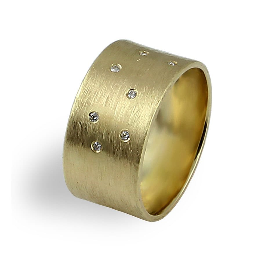 media hammered gold mens white rustic ring rings engraved bands unique wedding band wide
