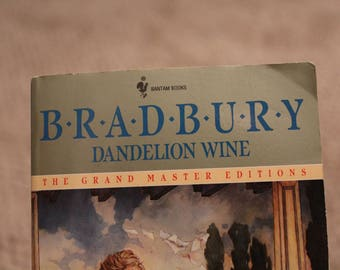 Dandelion Wine by Ray Bradbury - Vintage Antique Paperback Classic Book - Childhood Novel - Midwest Novel