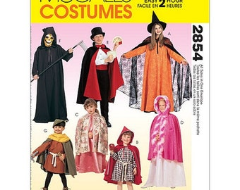 Sew & Make McCall's 2854 SEWING PATTERN - Childrens Costumes Magician Princess Witch sz 2-12